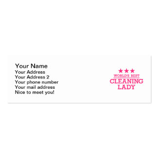 World's best cleaning lady mini business card