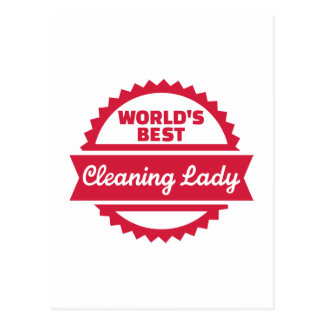 World's best cleaning lady postcard