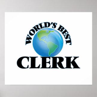 World's Best Clerk Poster