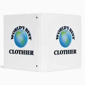 World's Best Clothier 3 Ring Binders