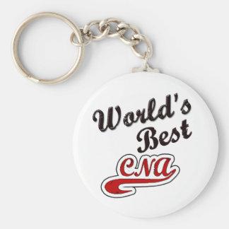World's Best CNA Basic Round Button Keychain