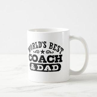 World's Best Coach And Dad Coffee Mug