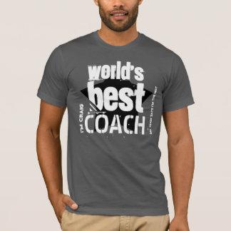 World's Best COACH Custom Name V03 BLACK Star T-Shirt