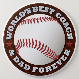 World's Best Coach & Dad 1 Button