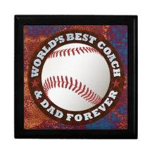 World's Best Coach & Dad 1 Gift Box Image Options Keepsake Box