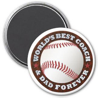 World's Best Coach & Dad 1 Magnet