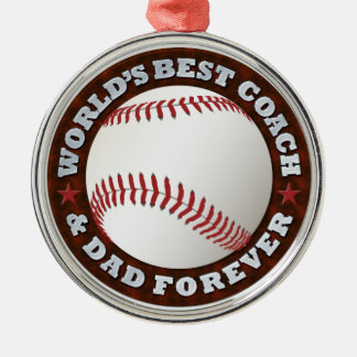 World's Best Coach & Dad 1 Ornament