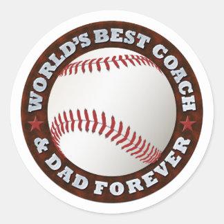 World's Best Coach & Dad 1 Sticker