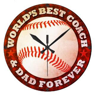 World's Best Coach & Dad Clock