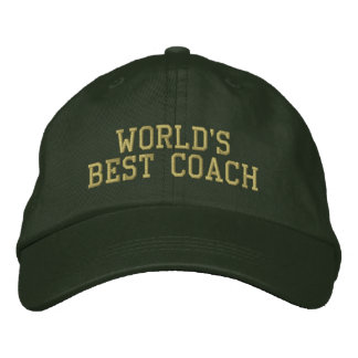 World's Best Coach Embroidered Baseball Caps