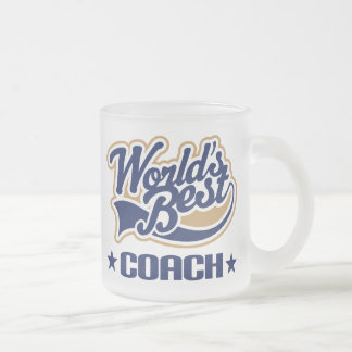 Worlds Best Coach Frosted Glass Coffee Mug