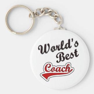 World's Best Coach Keychain