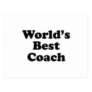 World's Best Coach Postcard