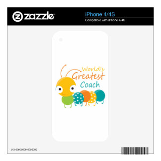 World's Best Coach iPhone 4S Decal