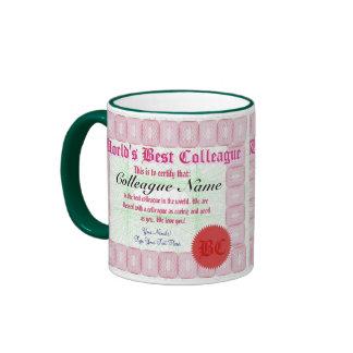 World's Best Colleague Certificate Award Mug
