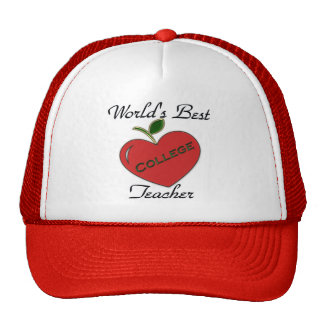 World's Best College Teacher Trucker Hats