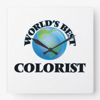 World's Best Colorist Square Wall Clocks