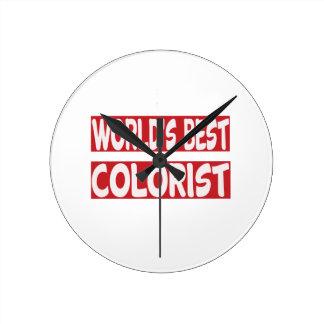 World's Best Colorist. Round Clocks