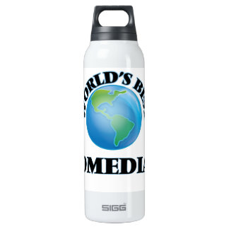 World's Best Comedian 16 Oz Insulated SIGG Thermos Water Bottle