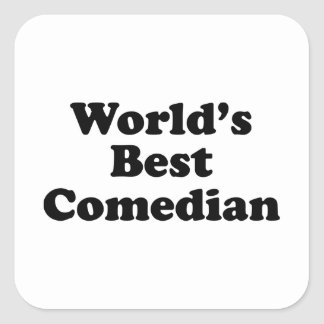 World's Best Comedian Square Sticker