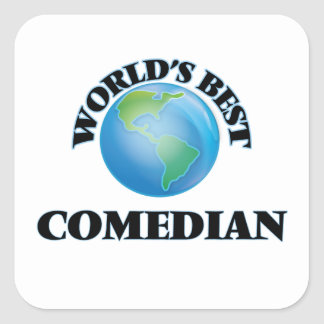 World's Best Comedian Square Sticker