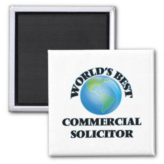 World's Best Commercial Solicitor Fridge Magnet