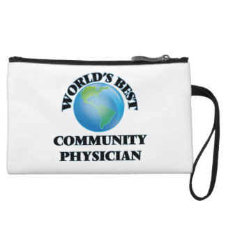 World's Best Community Physician Wristlet Clutch