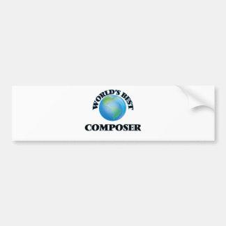 World's Best Composer Car Bumper Sticker