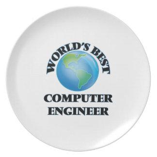 World's Best Computer Engineer Dinner Plate