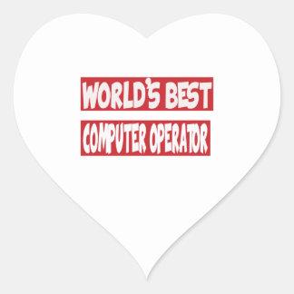 World's Best Computer operator. Heart Sticker