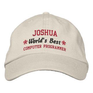 World's Best COMPUTER PROGRAMMER Custom Name V06 Embroidered Baseball Cap