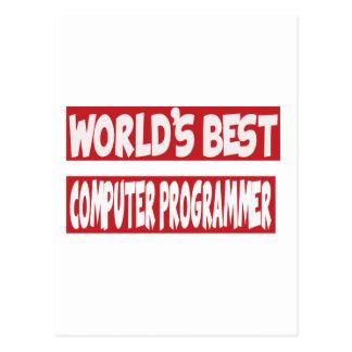 World's Best Computer Programmer. Postcard