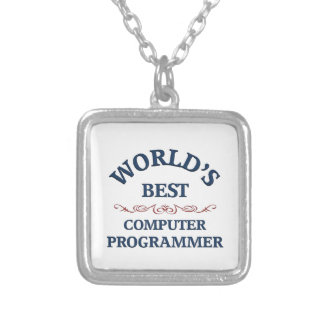 World's best Computer Programmer Silver Plated Necklace