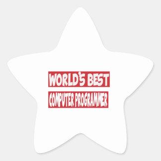 World's Best Computer Programmer. Star Sticker