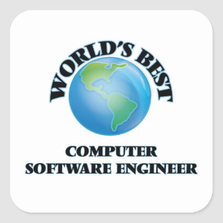 World's Best Computer Software Engineer Square Sticker