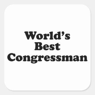 World's Best Congressman Square Sticker