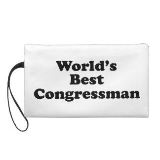 World's Best Congressman Wristlet Purse