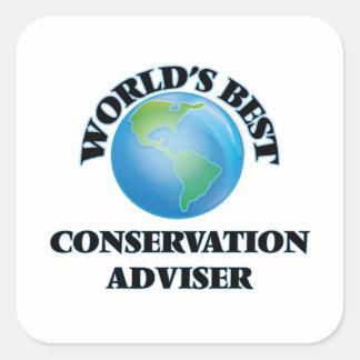World's Best Conservation Adviser Square Sticker
