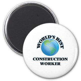 World's Best Construction Worker 2 Inch Round Magnet