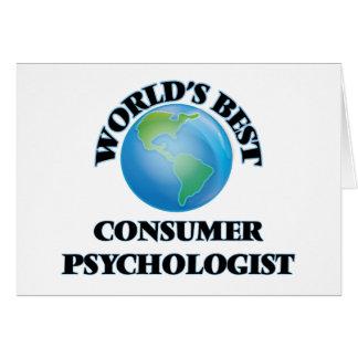 World's Best Consumer Psychologist Greeting Card