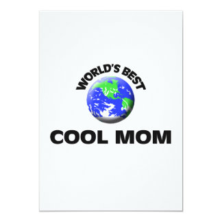 World's Best Cool Mom 5x7 Paper Invitation Card