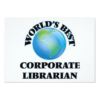 World's Best Corporate Librarian Custom Invite
