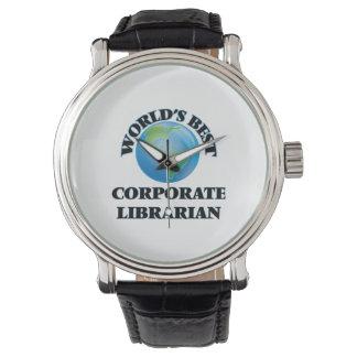 World's Best Corporate Librarian Wristwatch
