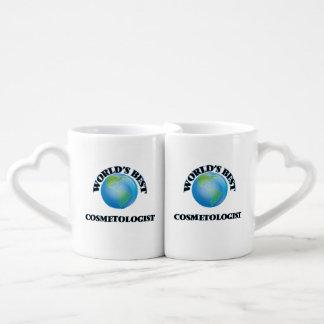 World's Best Cosmetologist Couple Mugs
