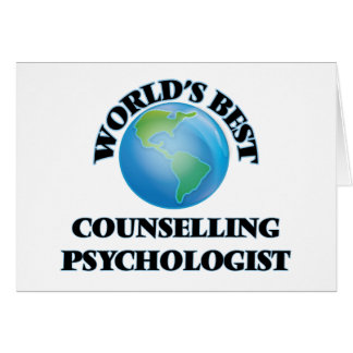 World's Best Counselling Psychologist Cards