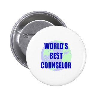 World's Best Counselor Pinback Button