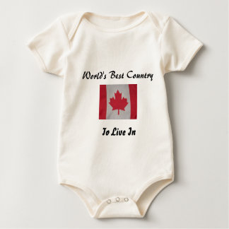 World's best country to live in canada flag baby baby bodysuit