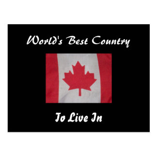 World's best country to live in Canada flag  card