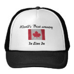 World's best country to live in Canada flag hat
