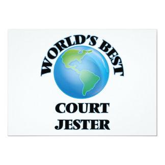 World's Best Court Jester 5x7 Paper Invitation Card